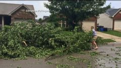 VIDEO: Powerful Winds Damage Homes in North Carolina