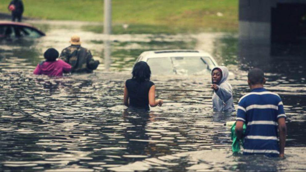 VIDEO: Dangerous flooding leaves hundreds of people stranded.