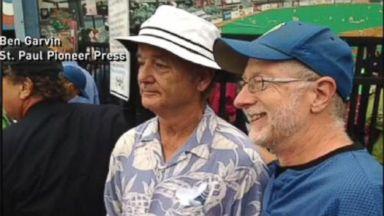 VIDEO: Instant Index: Bill Murrays Funny Antics at Last Game at Minn. Stadium