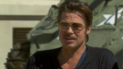 VIDEO: Brad Pitt on Meeting the Heroes of His Latest Movie and Being Married to Angelina Jolie