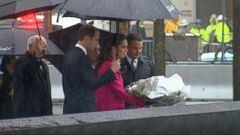 VIDEO: The Royal Couple Braves Noreaster to Visit the 911 Memorial in NYC