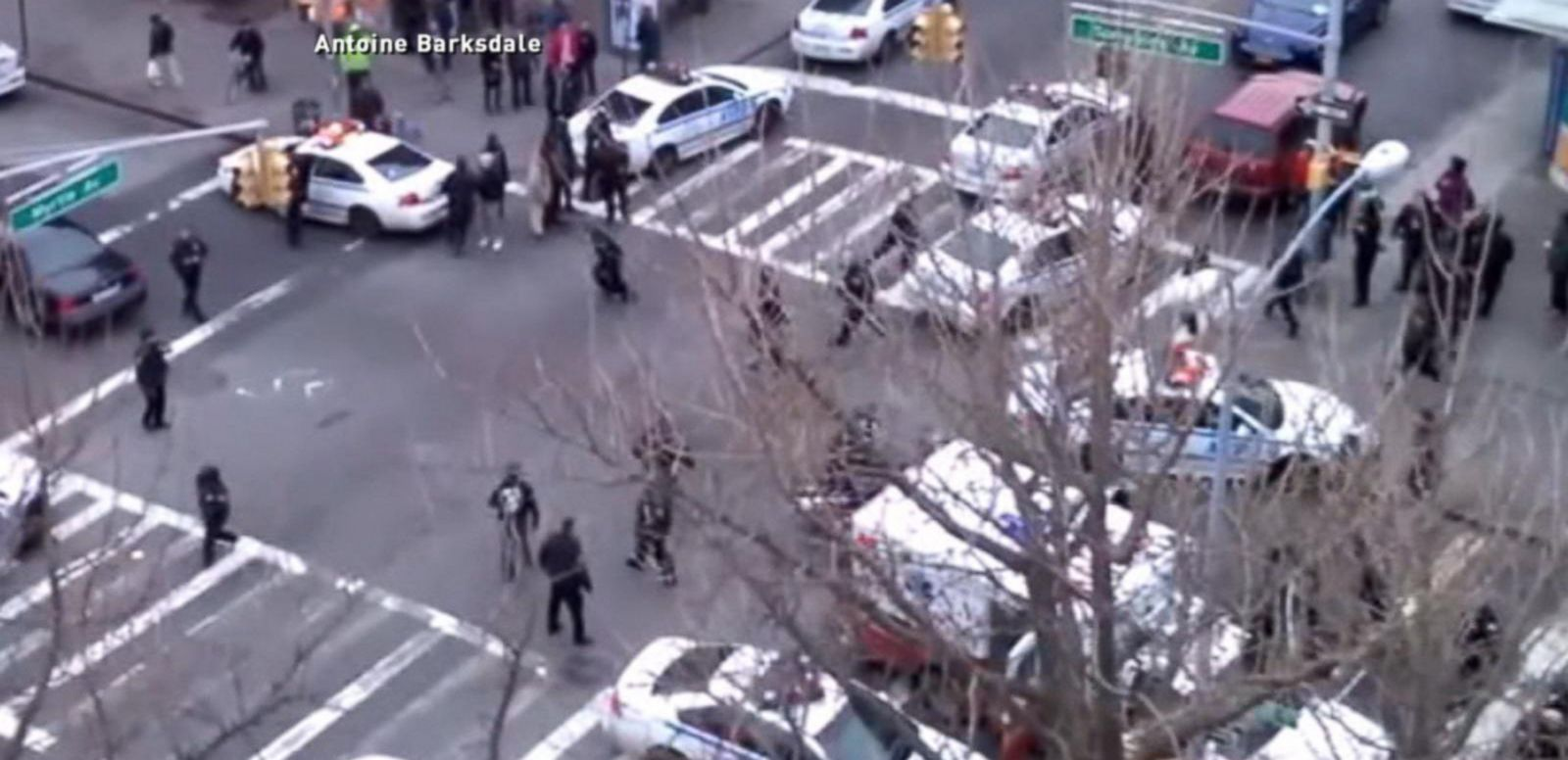 VIDEO: Video Shows Aftermath of Two Police Officers Gunned Down in Cold Blood