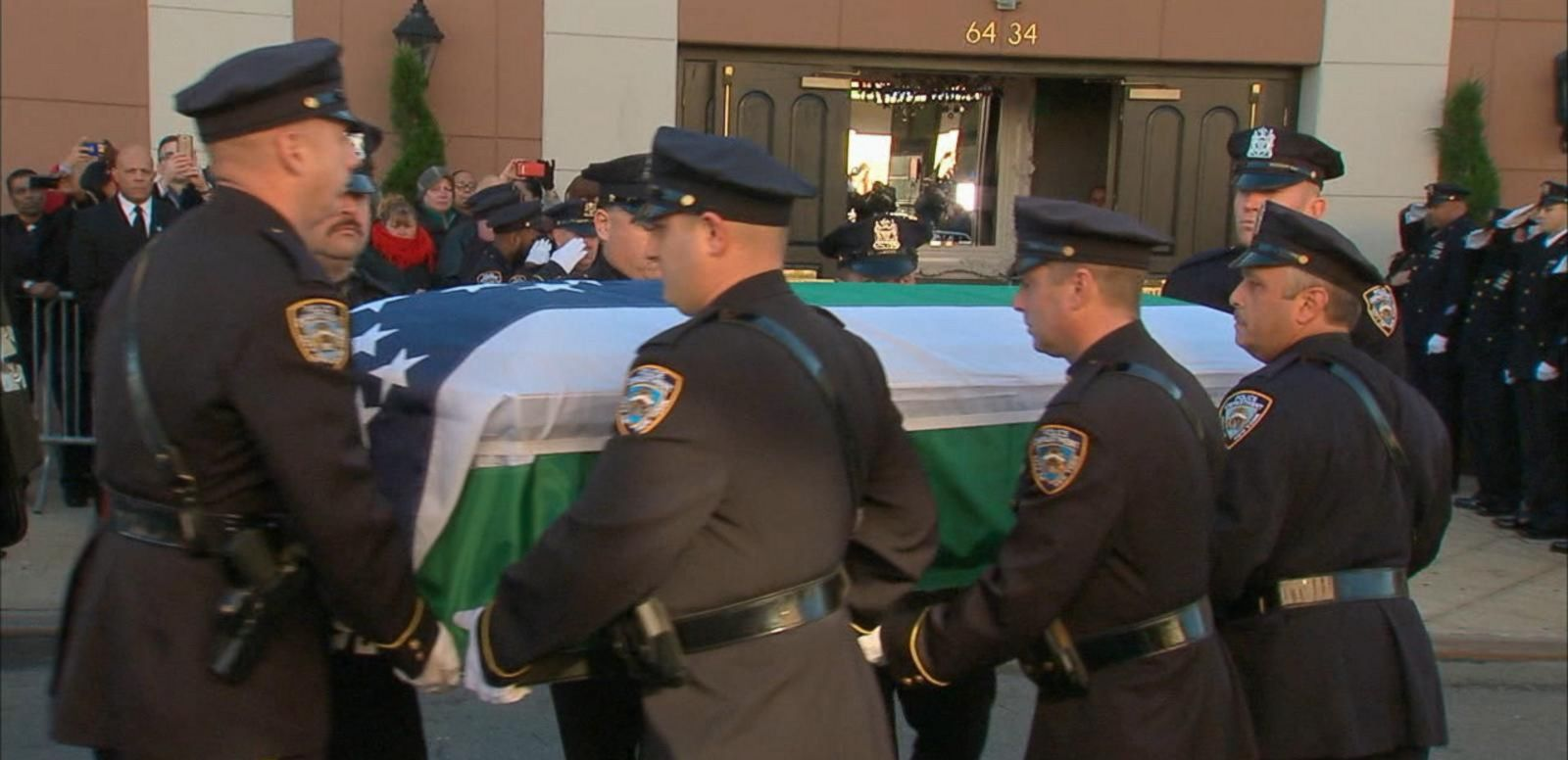 VIDEO: Outpouring of Support for Slain NYPD Officer Rafael Ramos