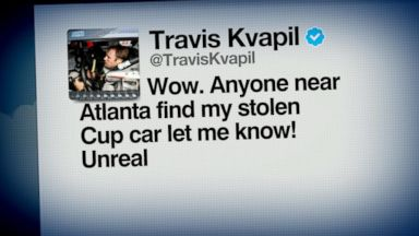 VIDEO: Index: NASCAR Driver Travis Kvapil Withdraws Because Race Car Was Stolen