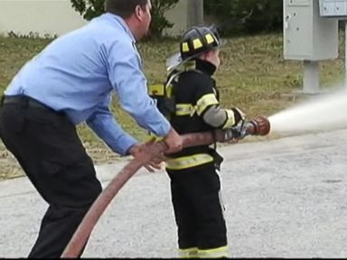 VIDEO: Boy Made Honorary Fire Fighter After Learning about Saving Lives