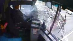 VIDEO: Runaway Bus Crash Caught on Tape After Driver Falls Asleep