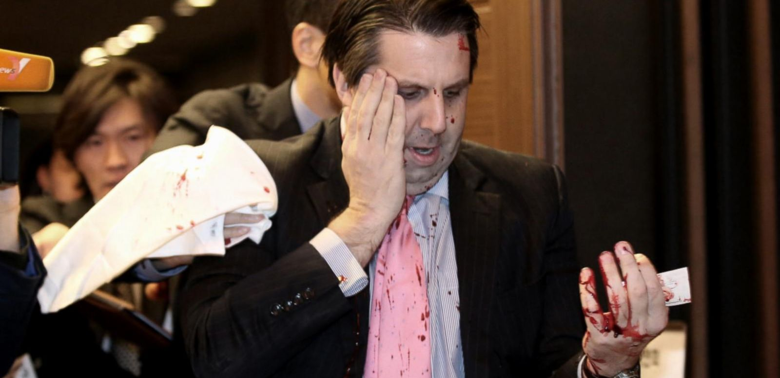 VIDEO: Man With 10-Inch Knife Slashes US Ambassador Mark Lippert
