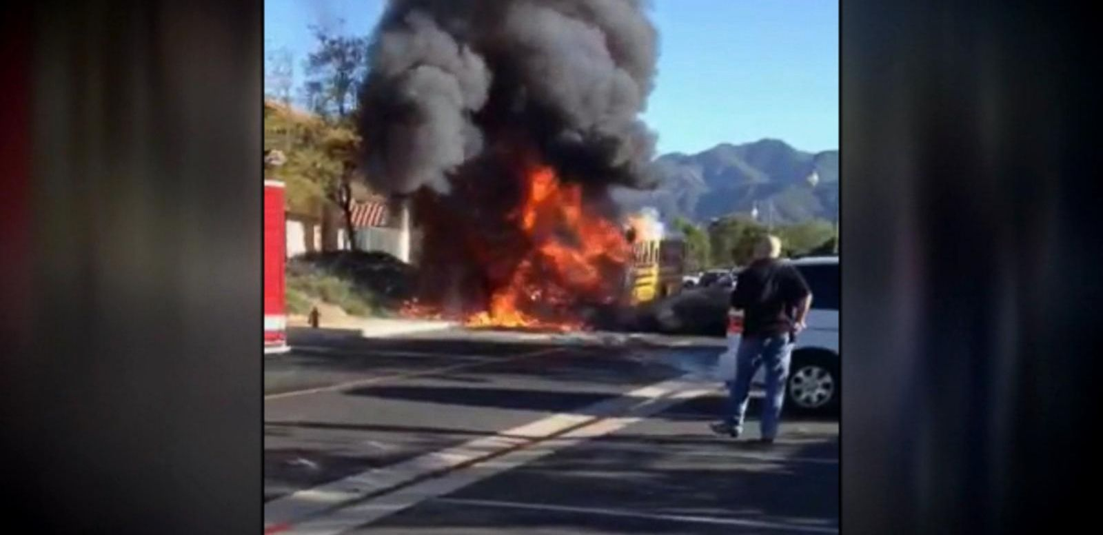 VIDEO: Index: School Bus Engulfed in Flames