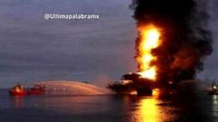 VIDEO: Oil Platform Explodes in the Gulf of Mexico