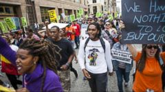 VIDEO: Baltimore Demonstrators Hopeful After 6 Officers Charged in Freddie Grays Death