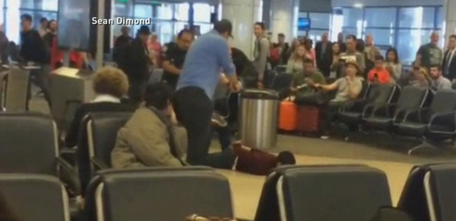 VIDEO: Airport Scare: Police Taser Man in LAX Terminal