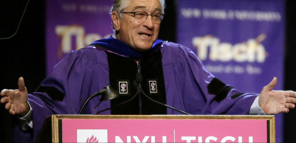 VIDEO: Robert De Niro Delivers Tough Love Graduation Speech