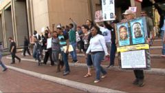 VIDEO; Hundreds of Protestors Take to the Streets After Cleveland Police Officer Gets Not Guilty Verdict