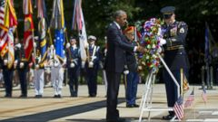 VIDEO: Obama Honors the Troops at Arlington Cemetery