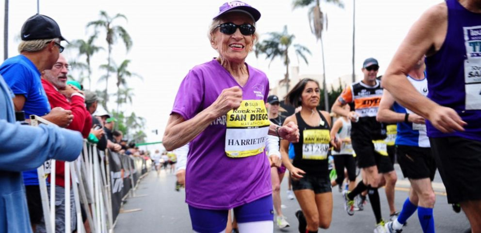 VIDEO: Holy Moly! Its Harriet Completing a Marathon at Age 92