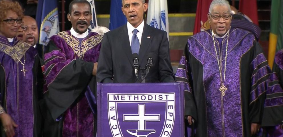 VIDEO: President Obama Sings Amazing Grace to Conclude SC Church Eulogy