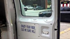 VIDEO: Controversy Over Baltimore Police Van Sign: Enjoy Your Ride, Cuz We Sure Will