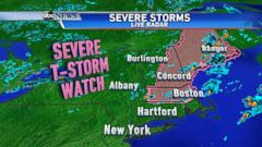 VIDEO: Severe Weather Headed for the Northeast
