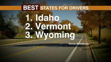 VIDEO: Index: Best and Worst States for Drivers