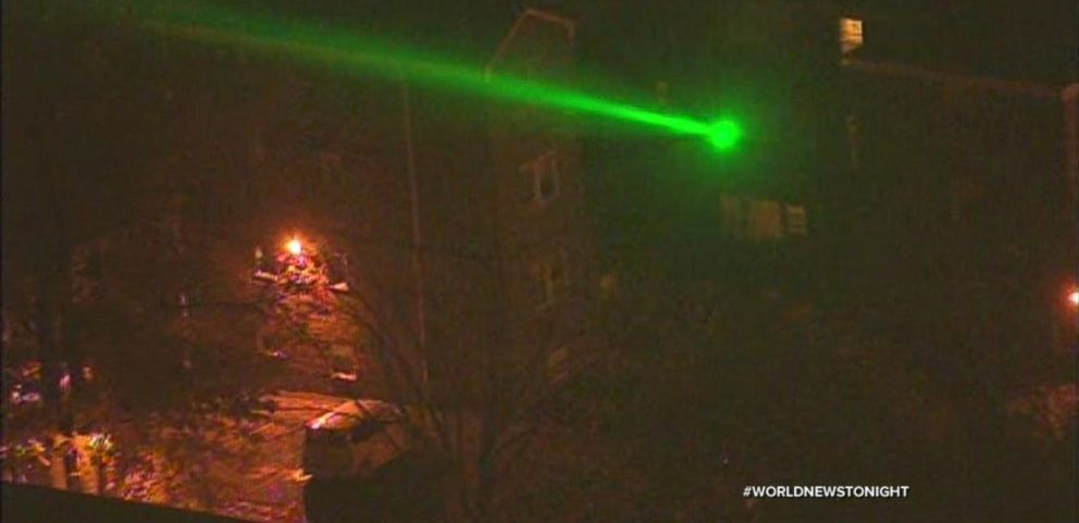 VIDEO: Two Suspects Under Arrest After Flashing a Laser at a News Helicopter in New York