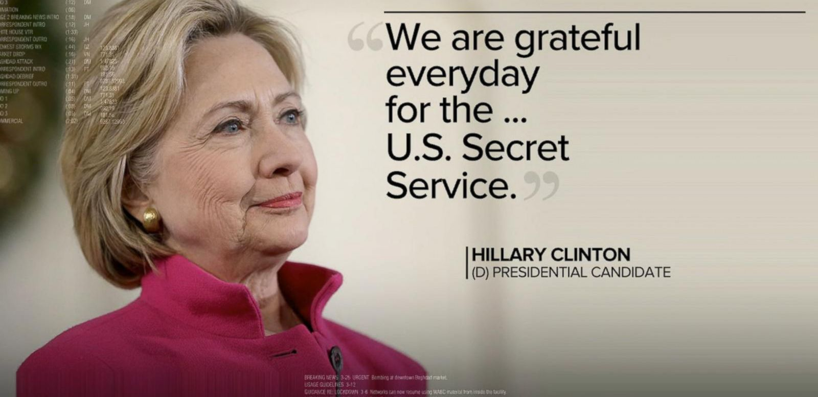 VIDEO: Four Secret Service Agents Guarding Hillary Clinton Die in a Car Crash
