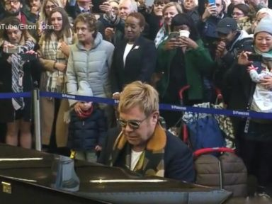 Watch:  Index: Sir Elton Johns Special Gift to Commuters in London