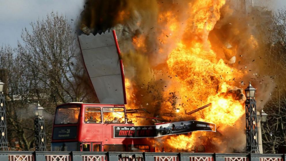 Double Decker Bus Explosion In London Part Of Film Shoot