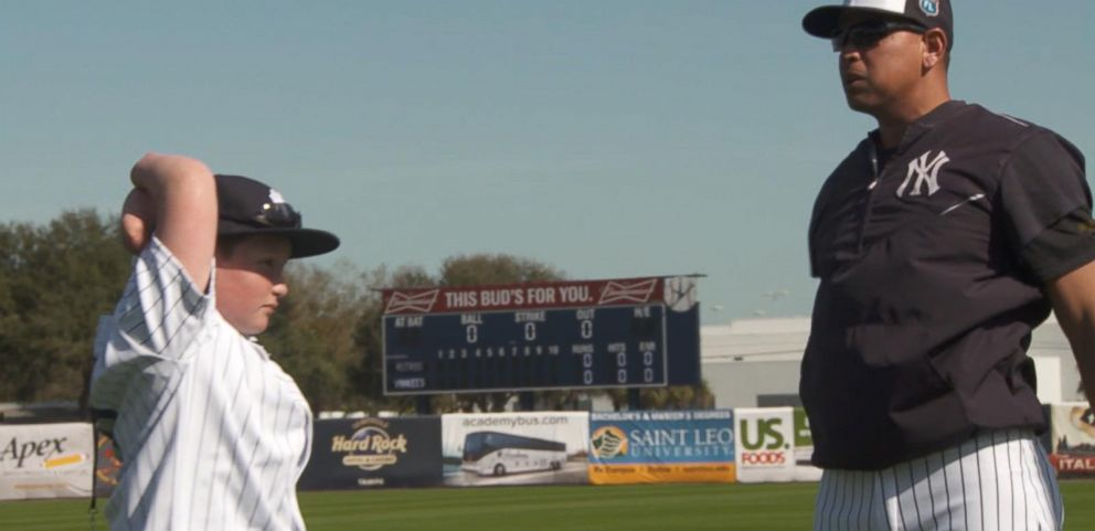 VIDEO: Landis Sims Realizes His Dream to Play With Yankees Despite Being Born Without All 4 Limbs