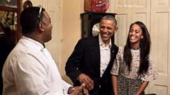 VIDEO: 2. Malia Obama Steps In for Dad