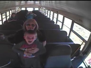 Watch:  School Bus Driver and Teachers Assistant Springs Into Action to Save Little Boys Life