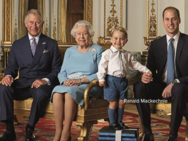 Watch:  Little Prince George Steals the Scene in a Picture Featuring 4 Generations of Royals
