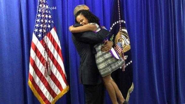 VIDEO: 'Little Miss Flint' Tells David Muir Hugging President Obama Was 'Amazing'