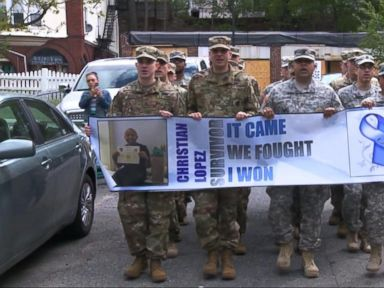 Watch:  David Muir Reports: US Army Salutes Teen Who Fought Stage 4 Cancer