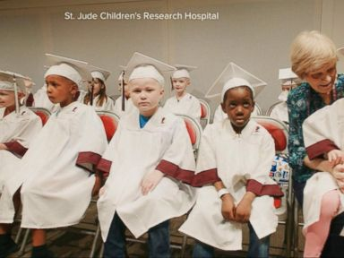Watch:  Kids Battling Cancer Graduate From Kindergarten