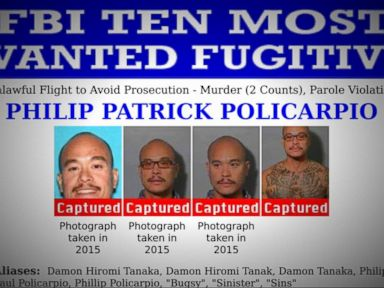 Watch:  Index: One of the FBI's 10 Most Wanted Fugitives Philip Patrick Policarpio Captured