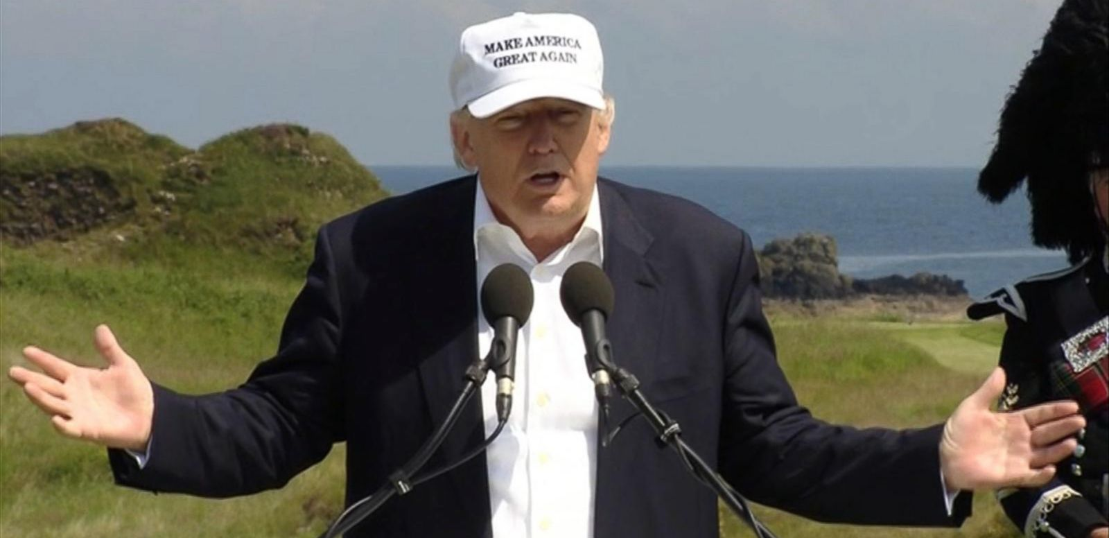 VIDEO: Trump Visits Scotland to Re-Open His Golf Course