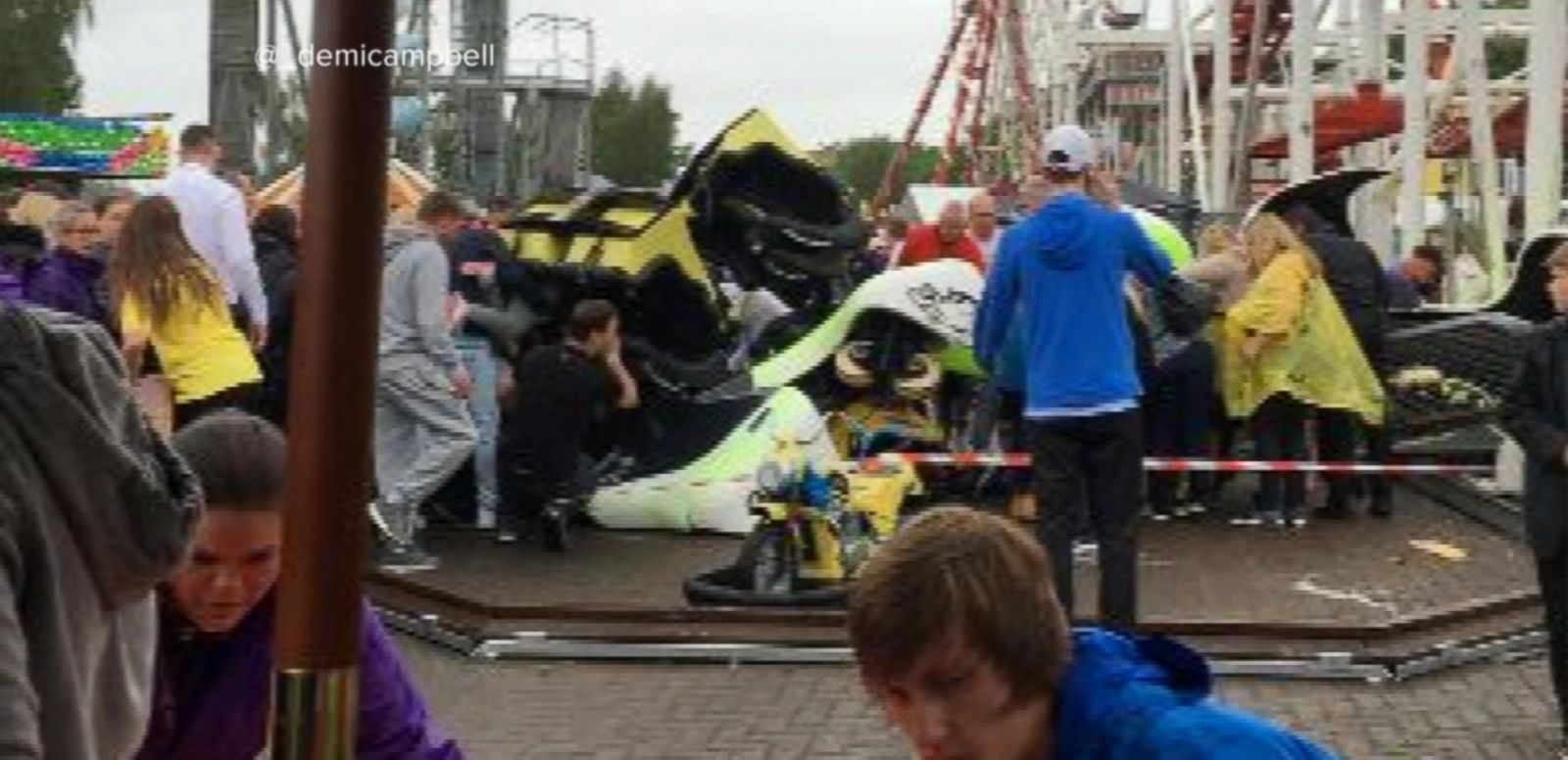 VIDEO: Roller Coaster Derails, Injuring 10 People