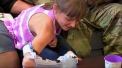 VIDEO: Young Girl Receives a Special Gift