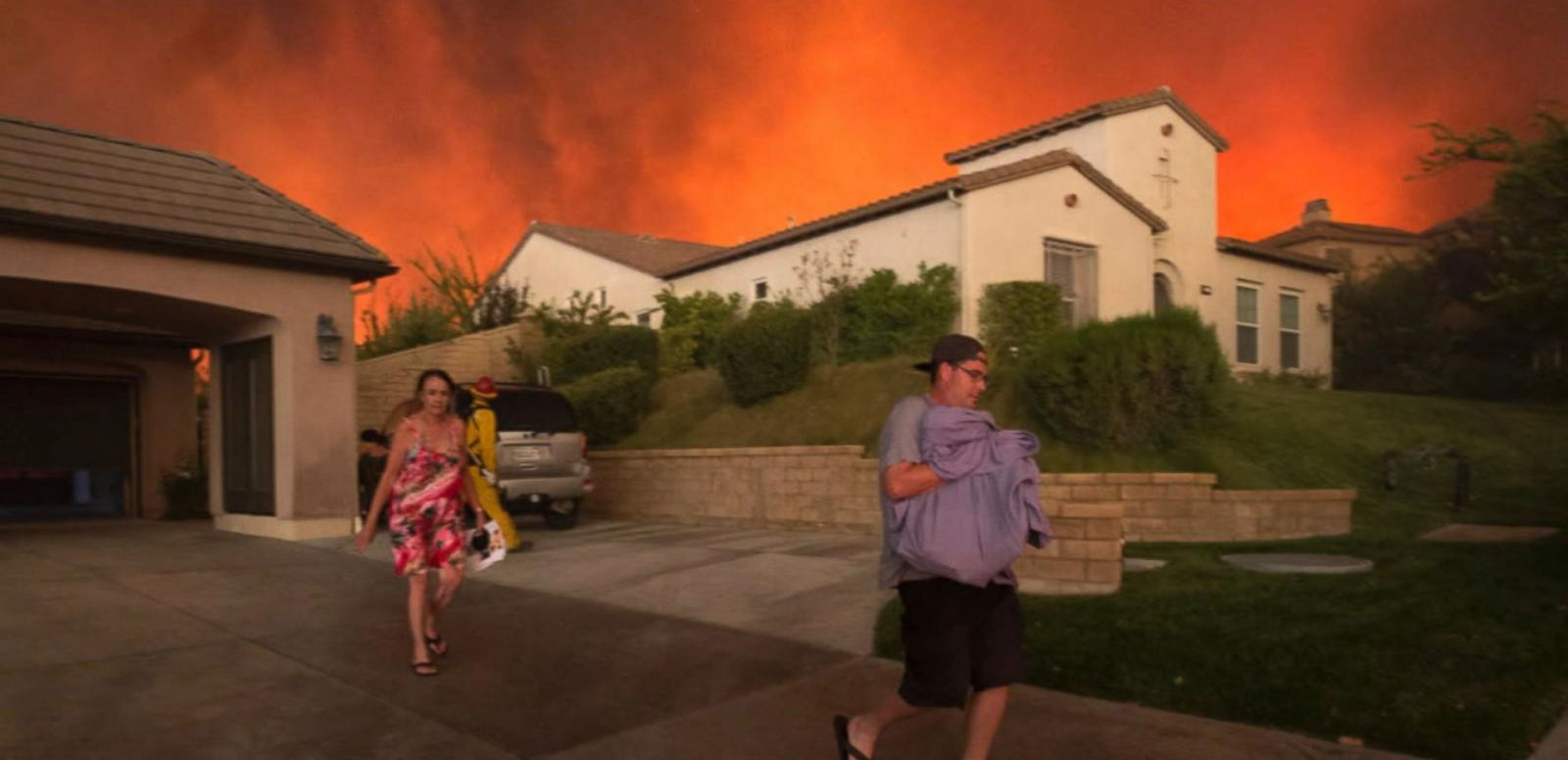 VIDEO: Raging Wildfires Burn Through Southern California Just 10 Miles North of LA
