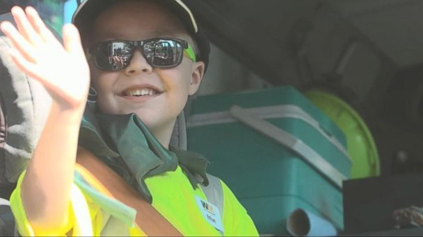 VIDEO: Make-A-Wish Foundation Fulfills Little Boy's Dream to Be a Garbage Man