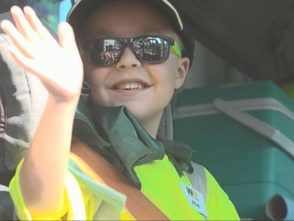 WATCH:  Make-A-Wish Foundation Fulfills Little Boy's Dream to Be a Garbage Man
