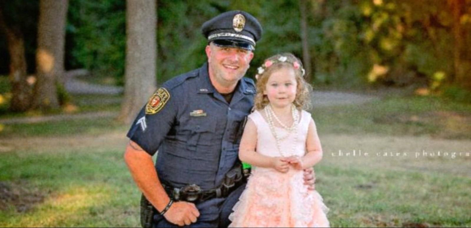 VIDEO: Little Girl's Tea Party for Her Hero in Blue