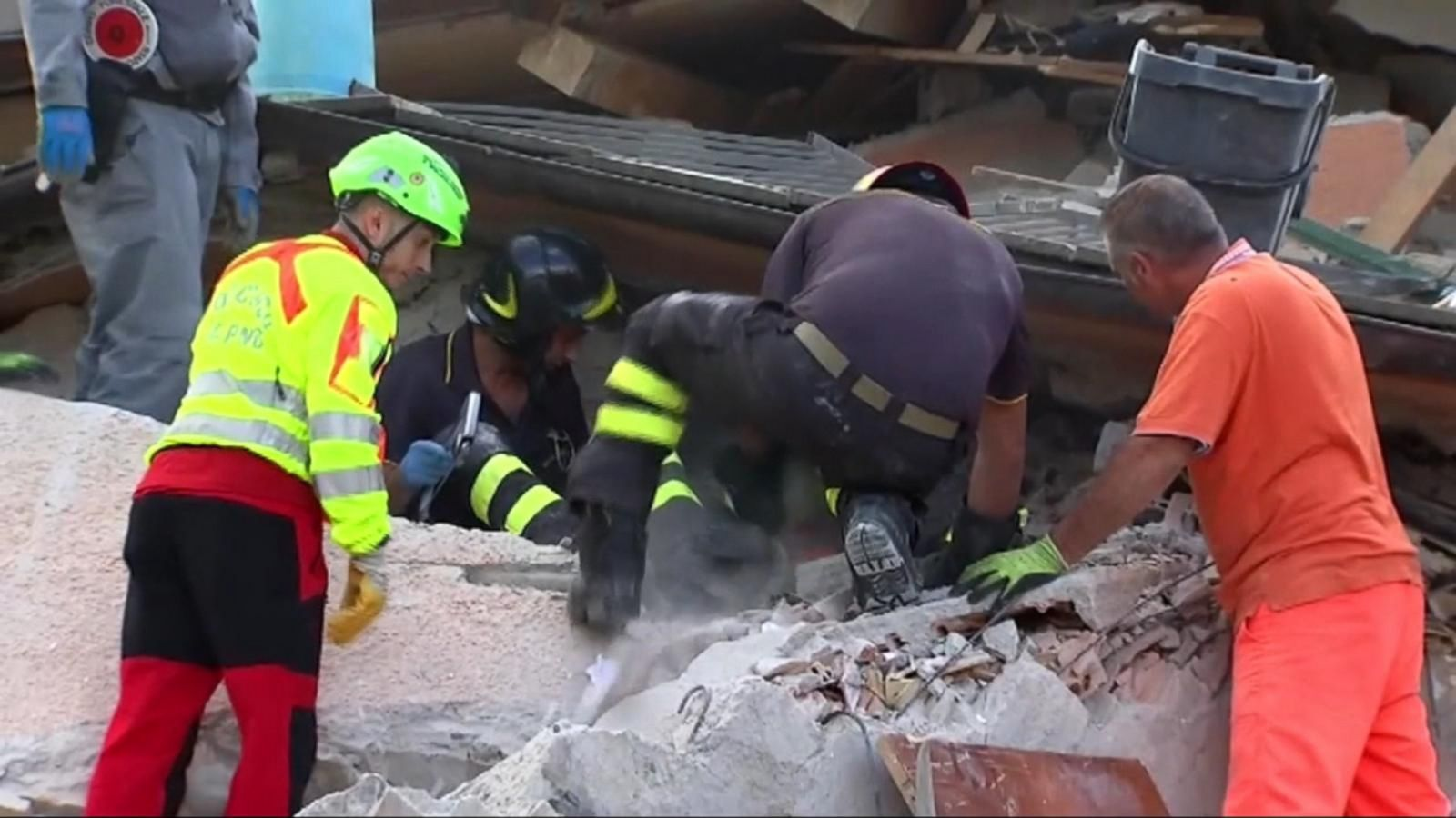 VIDEO: Race to Find Survivors After Deadly Earthquake Hits Italy