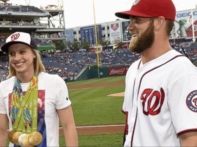 WATCH:  US Gold Medalist Katie Ledecky Throws Out 1st Pitch at Nationals Game