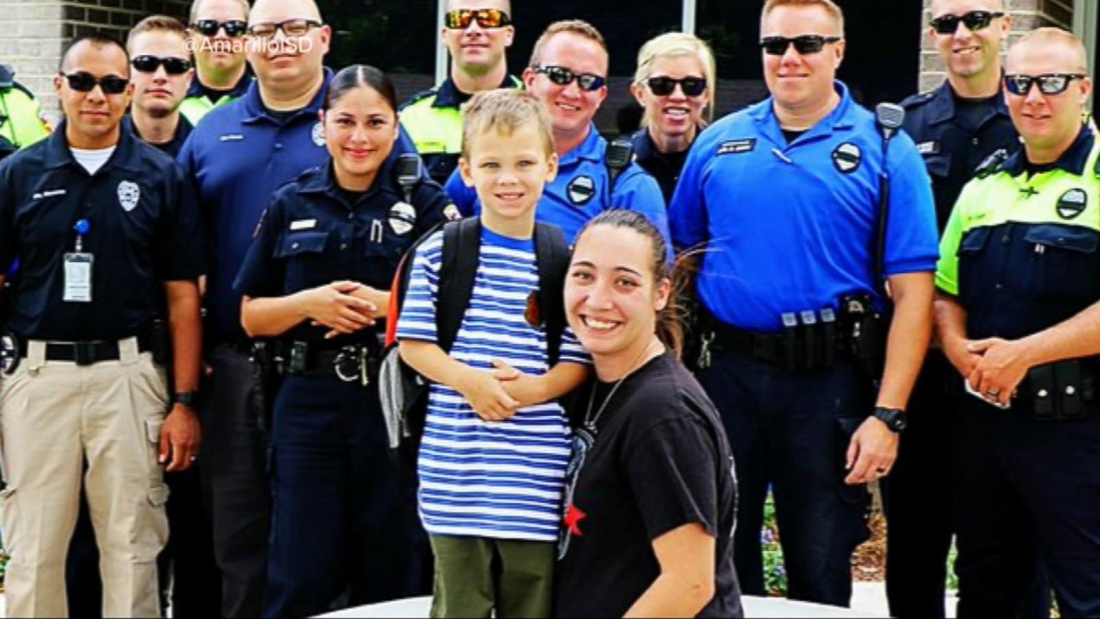VIDEO: Fallen Police Officer's Son Gets a First Day of School Surprise