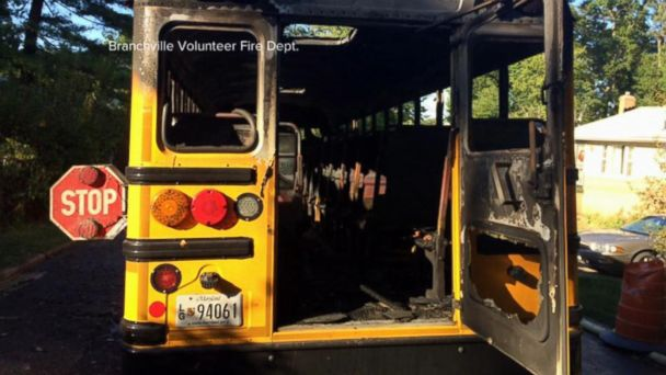 VIDEO: School Bus Driver Braves Flames to Make Sure Students Are Safe