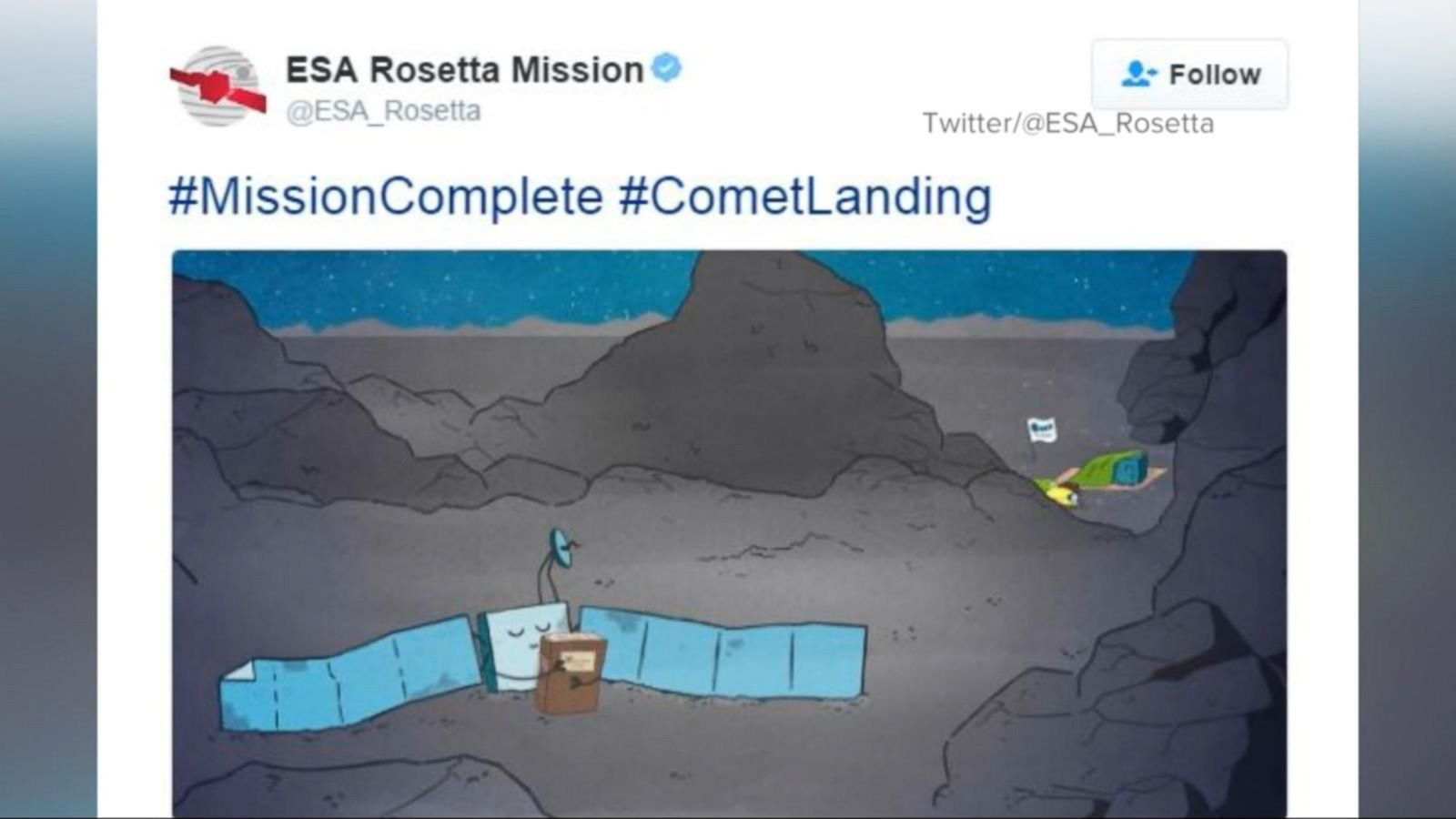 VIDEO: Rosetta Spacecraft Ends 12-Year Mission