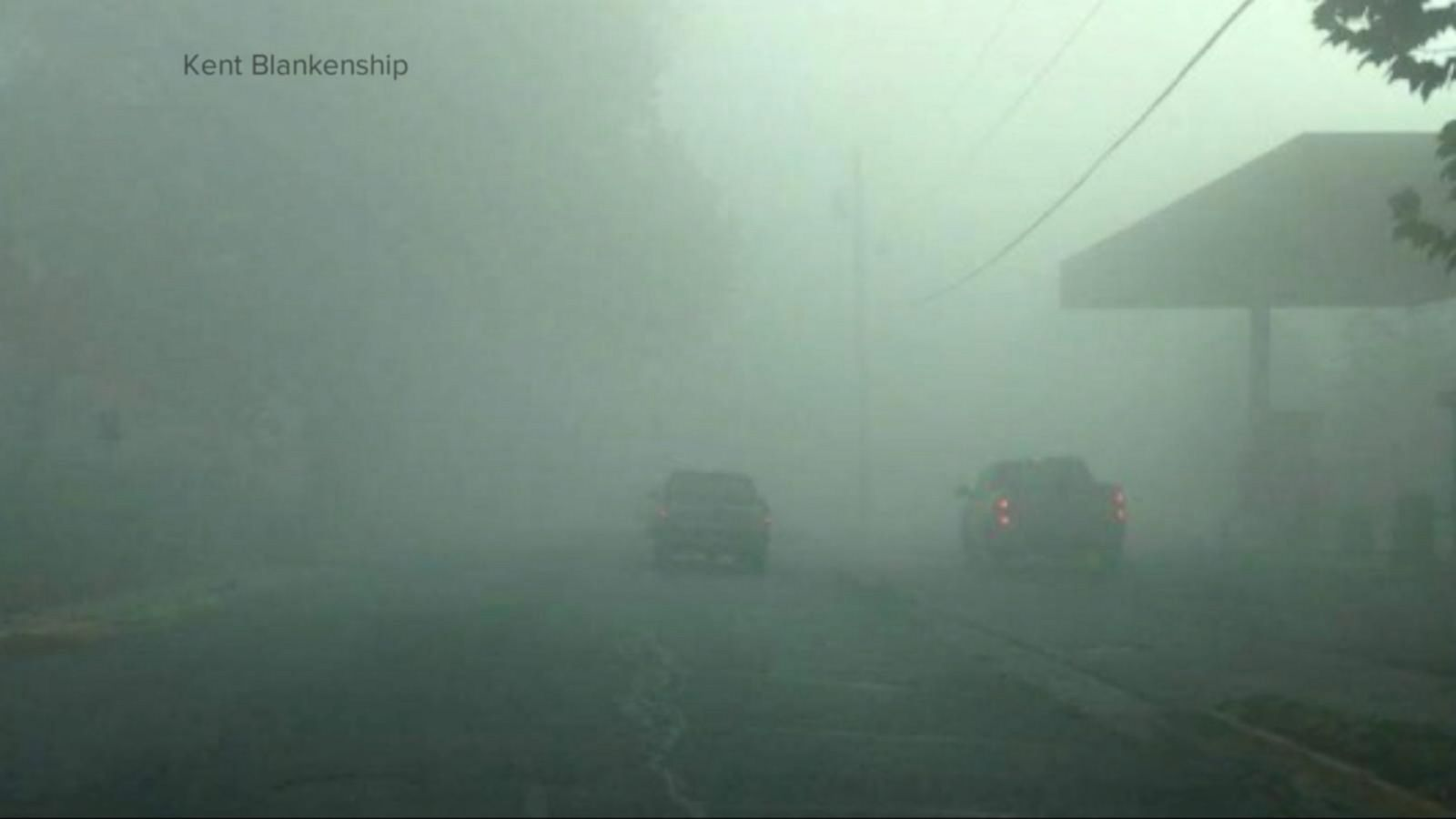 VIDEO: Dangerous Fog Over Kansas Community