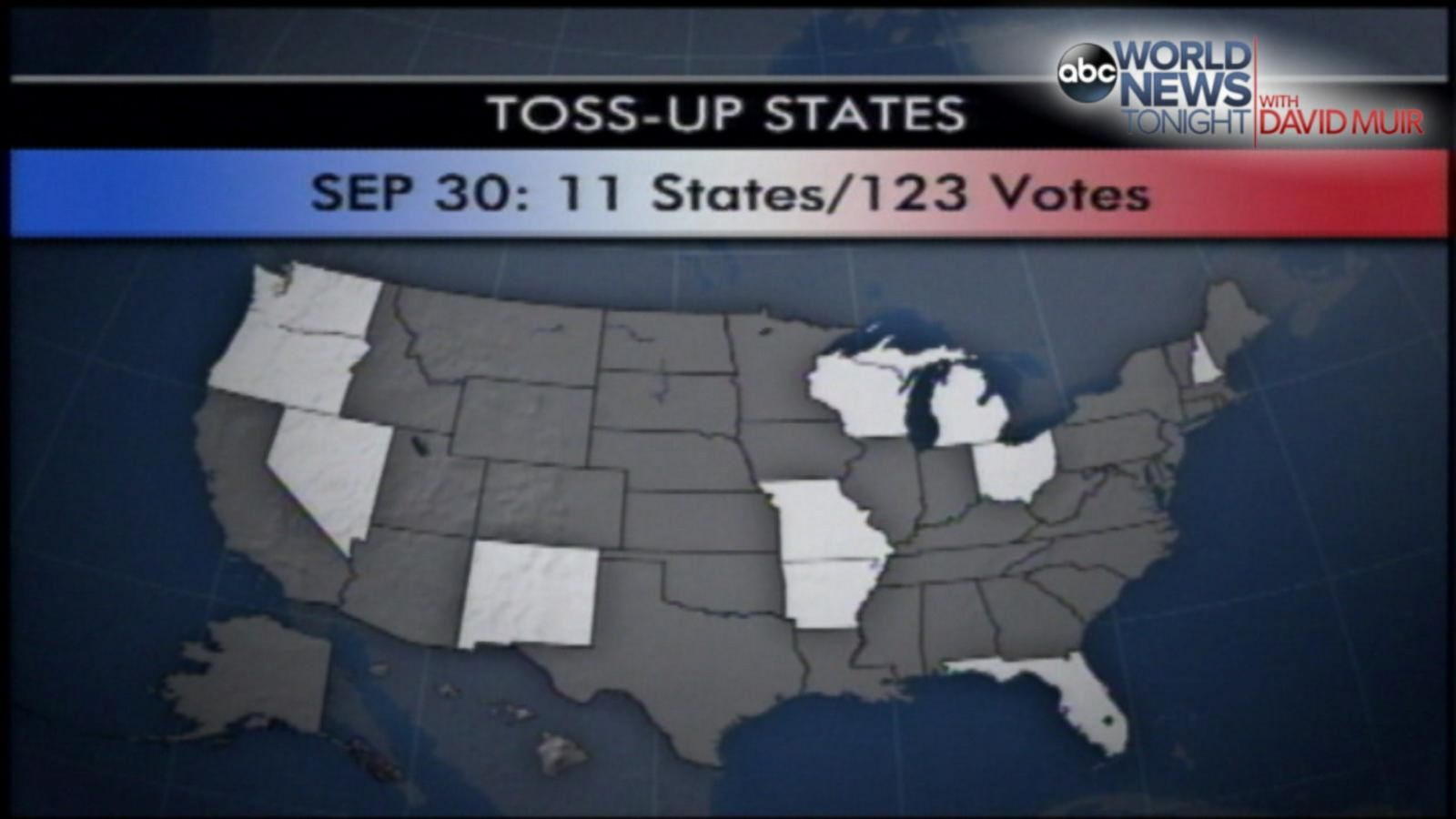 VIDEO: 2000 - 15 Days: ABC News Gore vs. Bush Polling a 'Toss-Up'