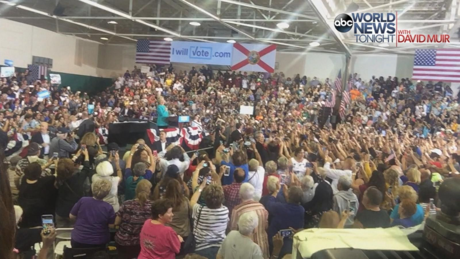 VIDEO: 2016 - 13 Days: Crowd Serenades Clinton with 'Happy Birthday Song' at FL Rally